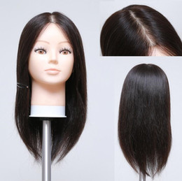 Practice hair head online shopping - Free delivery quot human ealistic female hair wig mannequin with head for training makeup practice can be cut fine M00609