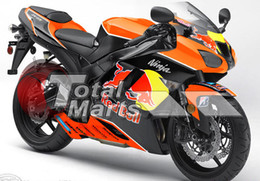 Fairing For Kawasaki ZX636 ZX6R ZX 636 6R 07 08 ABS Injection Black Orange F76169C