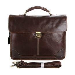 Handmade Briefcase Canada - 2017MENS Handmade 100% Genuine Leather Bag  Briefcase 15