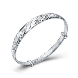 China plays online shopping - 925 Silver Bangle Dragon And Phoenix Play Bracelets Opening Fashion Women Fine Jewelry Silver Bangles