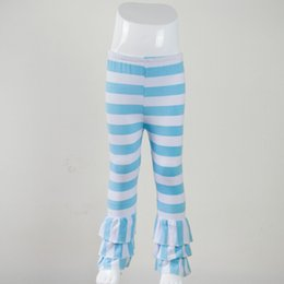 bfb1c6f2353f0 children girls triple fluffy ruffles tight triple sew sassy icing legging  baby icing ruffle pants kids girl wide stripe clothing
