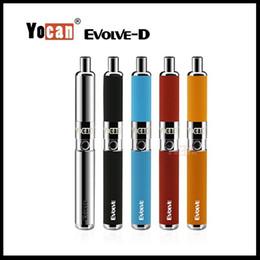 Best Dry Vaporizer Pen Australia - Authentic Yocan Evolve D Kit 650mAh Dry Herb Vaporizer Best Starter Kit Use Pancake Dual Coil Vape Pen E cigarette Kits