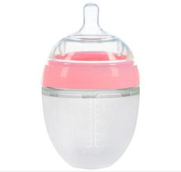 Vente en gros Bouteille de Silcon de bouteille de bébé de sensation naturelle pour nourrir le bébé pour boire la bouteille molle de bébé de lait