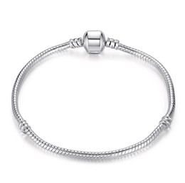 $enCountryForm.capitalKeyWord Canada - Mix size Retro 925 Silver Bracelet with LOGO 17CM-21CM Snake Chains DIY Jewelry Accessories fit European Style Beads Wholesale