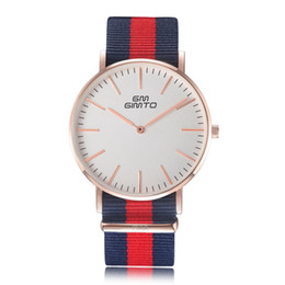$enCountryForm.capitalKeyWord Australia - Foreign trade explosion models British retro minimalist fashion for men and women watch 2 needle dial casual canvas belt quartz watch Wholes