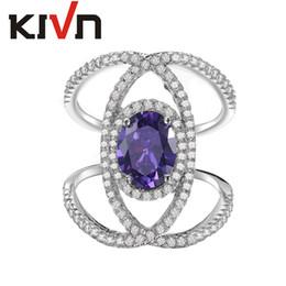 Ingrosso KIVN Fashion Jewelry Delicate Cross Over X CZ Cubic Zirconia Donne Ragazze Anelli nuziali di promozione Regali di compleanno