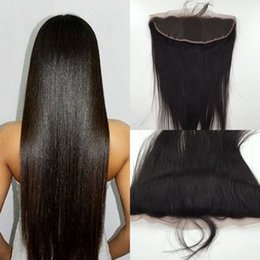$enCountryForm.capitalKeyWord NZ - 8A Cheap Peruvian Lace Frontal Closure Human Hair 13x4 Bleached Knots Virgin Straight Full Lace Frontal Pieces