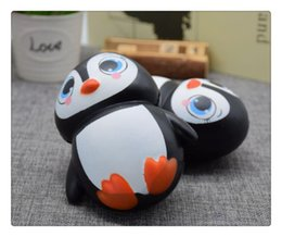 Doll Cakes For Kids Canada - Wholesale Kawaii Cute Penguin Squi Squishy Penguin Kawaii Cute Animal Slow Rising Sweet Scented Vent Charms Bread Cake Kid Toy Doll Gift Fun