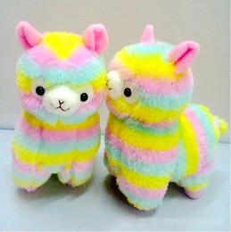 kawaii alpaca toy UK - Cute Rainbow Alpacasso Kawaii Alpaca Llama Arpakasso Soft Plush Toy Doll Gift