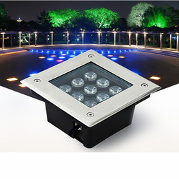 Beautiful LED Underground Lights Square Inground Deck Wall Garden Path Buried Floor  Stair Landscape Lamps 3W 4W 5W 6W 9W 12W 16W 24W 36W