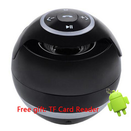 Wholesale Portable Mini Bluetooth Speaker ball Wireless column Handfree TF FM Radio with Mic MP3 globe audio Music G5 receiver for phone