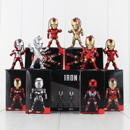 $enCountryForm.capitalKeyWord Canada - 8.5CM The Avengers Super Hero Iron Man with Battery&Light PVC Action Figure Toy Collection Model toy free shipping