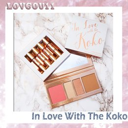 Barato Eyeshadow Lipgloss Blush-Hot Kylie In Love com Koko KOLLECTION Blush Highlighter Palette + batom lipgloss Contour eyeshadow Por KYLIE Cosmetic 660146-2