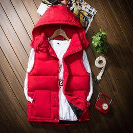 $enCountryForm.capitalKeyWord Canada - Winter new Vest men collar couple down cotton Korean Slim vest female coat big yards thick waistcoat