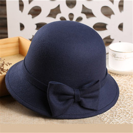 49a1314a724 Winter lady wool hat British Fashion jazz hat Dayan Mao hat brimmed caps  for women and men Panama hat BA496