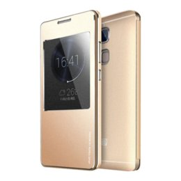 Luxury Display Cases Canada - Huawei Mate7 Case Luxury Flip View Display Window Metal Cover Case For Huawei Ascend Mate 7 Original Aluminum Mobile Phone Case