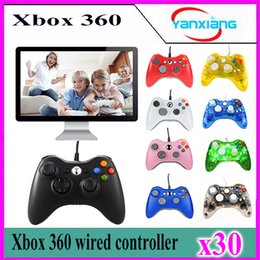 Usb compUter controller online shopping - 30pcs Xbox360 Controller New USB Wired Gamepad Controller For MICROSOFT Xbox PC Computer YX