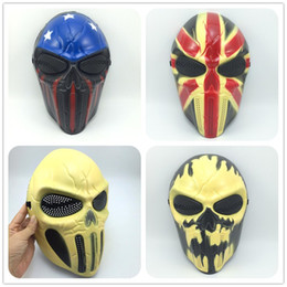 wholesale film cartoon NZ - New Cartoon Mask Cosplay Halloween Mask Captain Warrior Mask Film Mask Military Masks Wargame Paintball Full Face Tactical Skull Party Masks