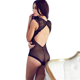 Barato Sexy Fashion Body-Sexy Mousse Full Transparent Lace Bodysuit Mulheres V Vest Black shapers Corset Slim Bodies Hot Shapewear Panty Shaper For Women