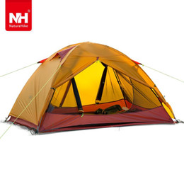 two door tents UK - Naturehike two person Windproof Waterproof Anti UV Double Layer Tent 20D Silicone Ultralight Outdoor Hiking Camping Tent