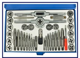Thread Tapping Tools Canada - 40 pcs set Hand Threading M3~M12 Screw Thread Metric Plugs Taps & dies &Tap wrench & Die wrench