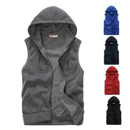 China Wholesale-New 2016 High Quality Joker Mens Sleeveless Hoodies Fashion Casual Sports Sweatshirt Men Free Shipping 5 Colors Size S-XXL supplier joker men suppliers