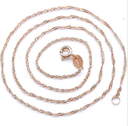 $enCountryForm.capitalKeyWord Canada - wholesale 925 sterling silver plating rose gold chain of water waves sterling silver necklace fashion cheap necklace good jewelry gift