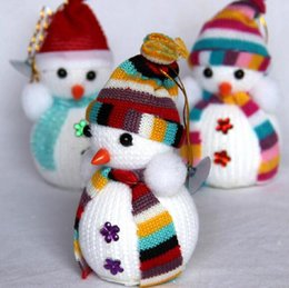 christmas snowman ornaments sale NZ - Hot Sale! Exclusive Super Cute Christmas Decoration Tree Decorations Snowman Doll Christmas Socks Children's Gift Tiny Toy
