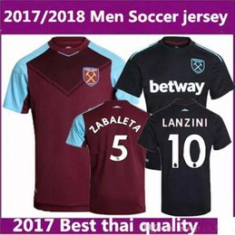 8915da175 New 2017 2018 soccer suit Thai quality jersey A.AYEW CARROLL LANZIN men s  short sleeve football shirt print name number ...