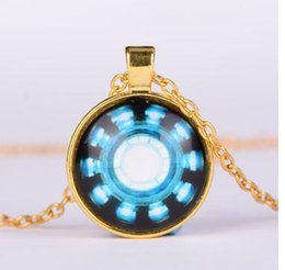 gothic art pictures 2019 - Iron Man Arc Reactor Pendant glass Necklace Art picture Gothic glass cabochon silver choker Necklace for women men Jewel