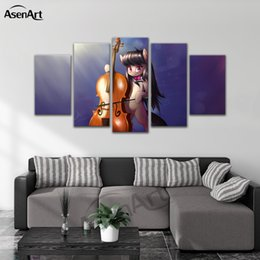 japanese wall canvas Canada - Canvas Painting Japanese anime Octavia Wall Art 5 Panel for Kids Room Home Decorative Framed Ready to Hang Dropshipping