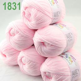 Vendita Lotto di 6 palline x 50g Velluto di cashmere Velluto per bambini Baby rosa 18-31 in Offerta
