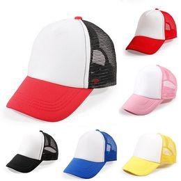$enCountryForm.capitalKeyWord Australia - 6 Colors Baby Baseball Caps Summer Girls Boys Blank Foam Mesh Hats for 3-8 Years Old