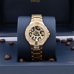 China 2017Christmas Gifts Fashion Women Watch With Diamond Stainless Steel leopard Luxury Lady Big Wristwatch Famous Brand Wristwatch High Quality supplier fashion leopard watches suppliers