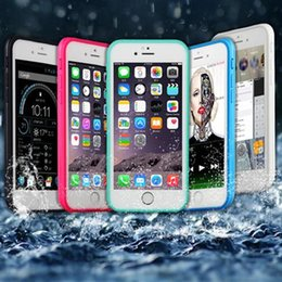 gel seal 2019 - For iPhone 7 7plus 100% Sealed Waterproof Case For Iphone 6 plus 6s Full Cover Transparent Screen Protect Soft TPU Gel F