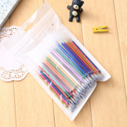 100Pcs  Pack New Colors Gel Ink Pen Refills Graffiti School Office Supplies Cartoon Painting Sketch Color Gel Pen Ink on Sale