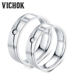 Online Shopping 316L Stainless Steel Couple Rings For Women Men Lover Wedding Engagement Party Best Gift