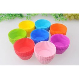 Cupcake Muffins Cake Australia - Mixed color Silicone Cake Tool Cookie Chocolate Pastry Baking Soap Mold for Cupcake Moulds Muffin Cup Easy release Free Shipping