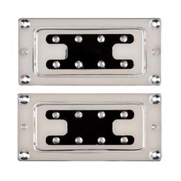 Guitar Neck For Fender Canada - Chrome Humbucker Bridge Neck Set Pickups for Rickenbacker Bass Guitar Parts C4