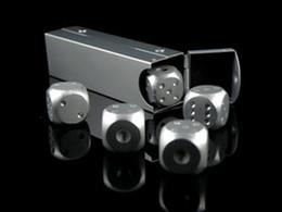 $enCountryForm.capitalKeyWord Canada - 5pcs * 16mm Pure Aluminum Dice With Aluminium Alloy Rectangular Box Dice Set Party Drinking Games Gift Dices Sets Good Price 5pcs set #S41