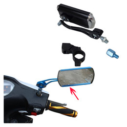 Discount bicycle mirror - 1 PCS Second Version Expanded Motorcycle & Bicycle Rearview Mirror Reflector Rectangle Mirror Wide Angle Horizon With Ho