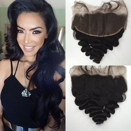 """$enCountryForm.capitalKeyWord Canada - 13"""" X 6"""" Peruvian Lace Frontal Loose Wave Ear to Ear Lace Frontal Closure Real Human Hair Frontal With Bleached Knots"""