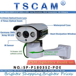 micro wired camera audio 2018 - TSCAM SP-P1803SZ-POE Pan Tilt Zoom IP Camera ONVIF HD 1080P 2.0MP With POE TF Micro SD Card Slot Two Way Audio Line disc