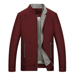 clothes middle ages UK - Men's New Pattern Man Business Affairs Jacket Competitive Products Autumn Clothing Stand Lead Middle Age Loose Coat Male