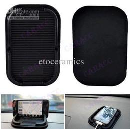 mobile holder car silicon 2019 - 100pcs lots Multi-functional car Anti Slip pad Rubber Mobile Phone Shelf Antislip Mat For GPS MP3 Cell Holder