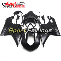 1198 Fairings Canada - Fairings For Ducati 1098 848 1198 07 08 09 Sportbike ABS Motorcycle Fairing Kit Bodywork Motorbike Cowling Flat Black Matte Body Frames New