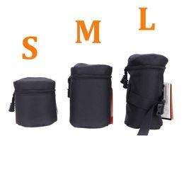 $enCountryForm.capitalKeyWord Australia - Andoer Waterproof Padded Protector Camera Lens Bag Case Pouch for DSLR Nikon Canon Sony Lenses Black Size S M L