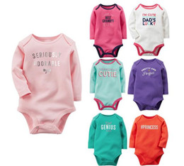 bodysuits princess Canada - 2016 Princess Newborn Baby Girl Clothes Girls embroidered long sleeve triangle Rompers Baby Clothing Infant Jumpsuit summer autumn bodysuits