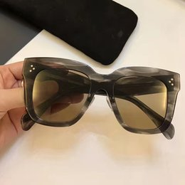 China 41444 Luxury Women Brand Designer CL41444 Sunglasses Goggle Wrap Designer UV protection Unisex Model Big Frame Top Quality Come With Case cheap uv model women suppliers