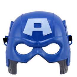 Adult Captain America Mask UK - Party Masks Cosplay Masks Children's Day Children Toys The Avengers Alliance Adult Children Toy Captain America A mask